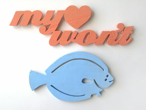 My Love Won't Flounder Beach Sign<font color=a8bb35> Available in May</font>