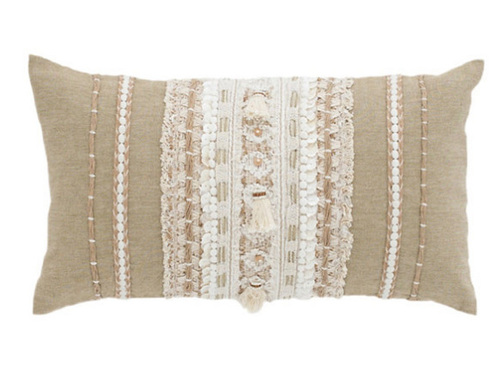Nikki Embroidered Decorative Pillow<font color=a8bb35> 20% OFF</font>