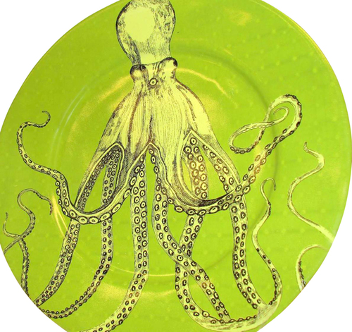 Octopus Platter in Lime Green