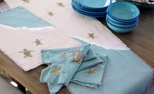 Sea Turtle Table Runner With Placemat Option