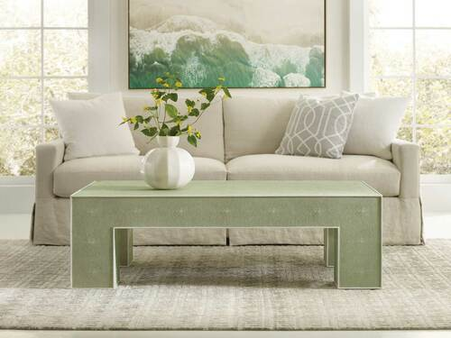 Shagreen Cocktail Table -Green