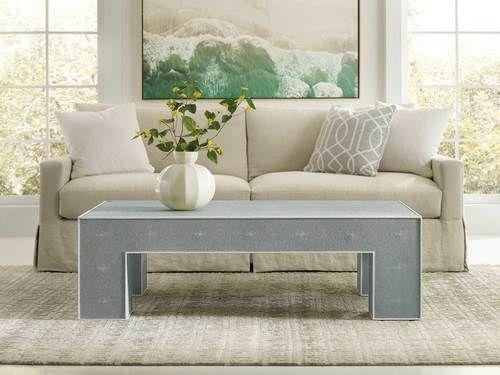 Shagreen Cocktail Table - Ocean Blue