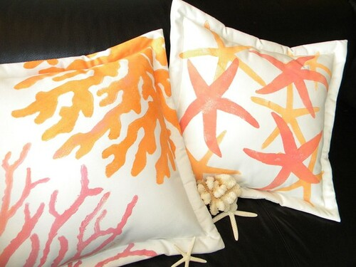 Sherbet Coral Outdoor Pillow