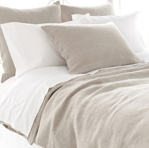 Stone Washed Linen Natural Duvet Cover