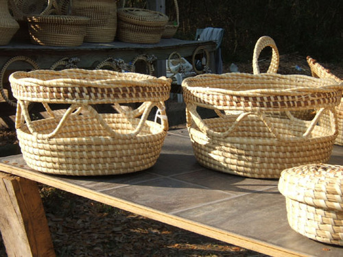 Sweetgrass Open Loop Baskets <font color=a8bb35> Discontinued</font>