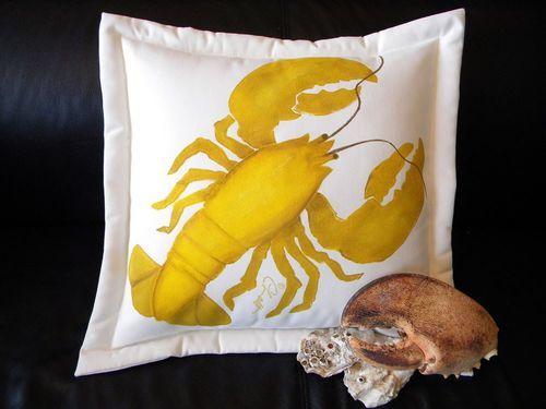 Yellow Lobster Indoor/Outdoor Pillow