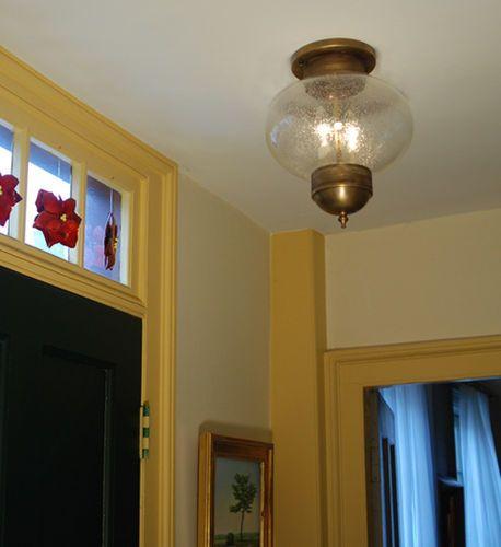 10 Round Onion Flush Mount Light Fixture <font color=a8bb25> Sold Out</font>