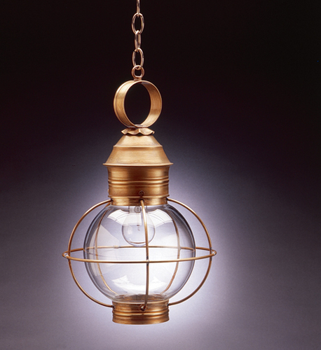 12 Round Hanging Onion Lantern <font color=a8bb25> Sold Out</font>