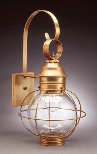 12 Round Onion Wall Light Fixture-Caged