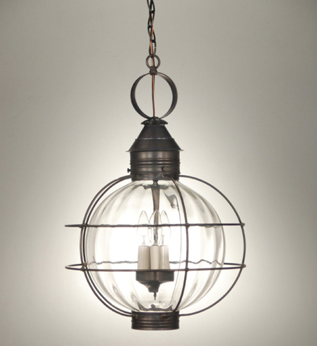 16 Round Hanging Onion Lantern <font color=a8bb25> Sold Out</font>