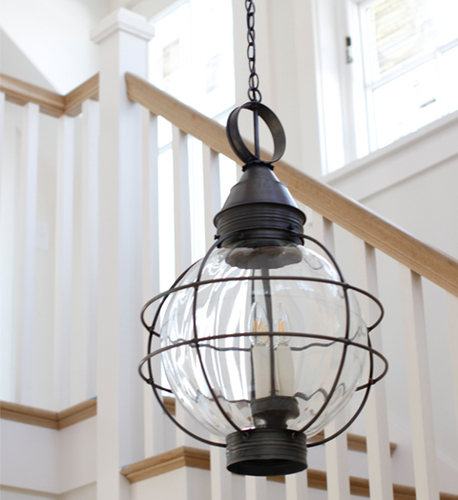 18 Round Hanging Onion Lantern <font color=a8bb25> Sold Out</font>