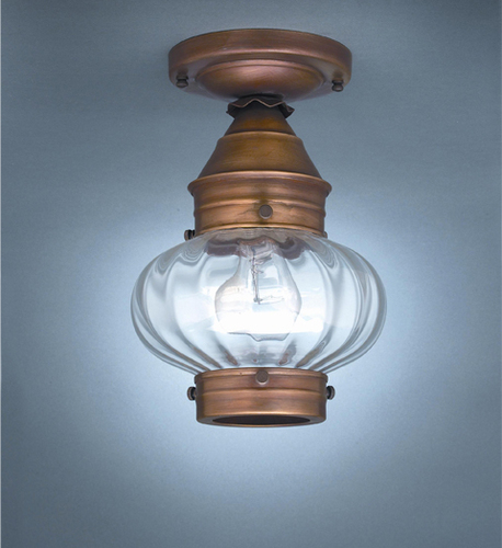 7 Onion Flush Mount Light Fixture <font color=a8bb25> Sold Out</font>