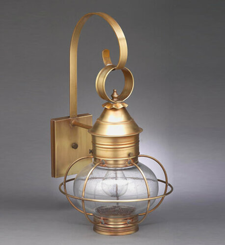11 Onion Wall Light Fixture With Cage <font color=a8bb25> Sold Out</font>