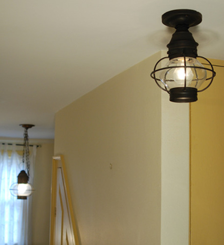 9 Onion Flush Mount Caged Light Fixture