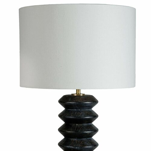 Accordion Ebony Table Lamp