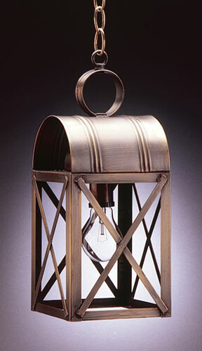 Adams Medium Hanging Lantern with Cross-Brace Bars