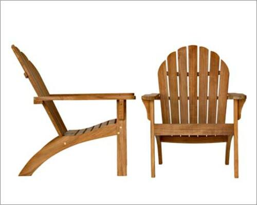 Adirondack Teak Chair and Footstool