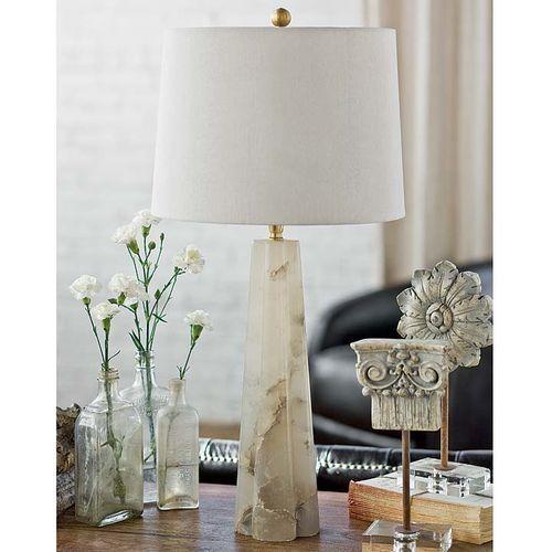Alabaster Quatrefoil Lamp Small *Backorder