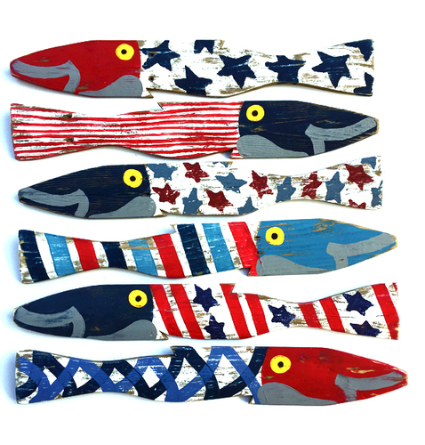 Americana Painted Fence Fish