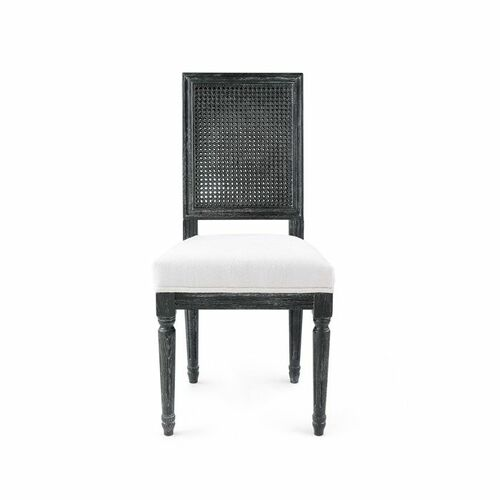 Annette Cane Side Chair in Gray Limed Oak