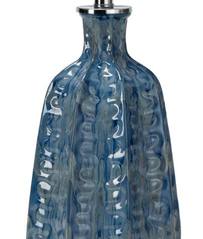 Antigua Blue Ceramic Table Lamp <font color=a8bb35> NEW</font>