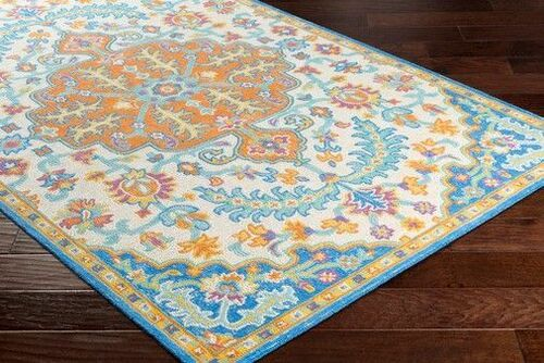 Antigua Bright Blue Hand Tufted Rug