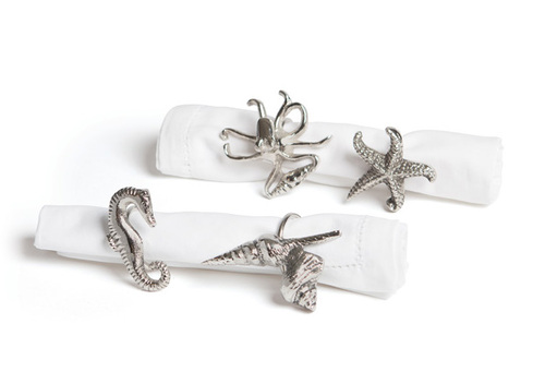 Aquarium Napkin Rings Set of 4