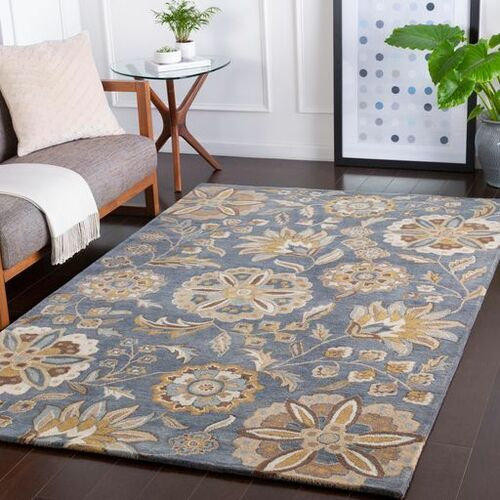 Athena Dark Green Hand Tufted Rug