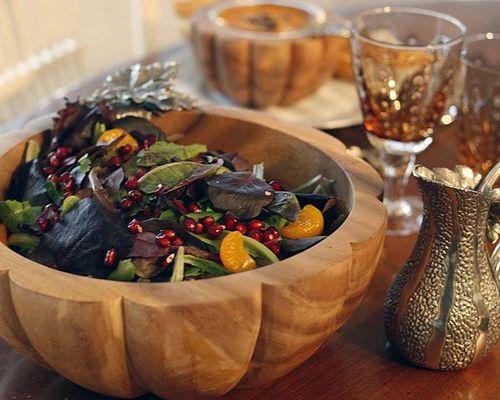 Autumn Vine Salad Serving Bowl