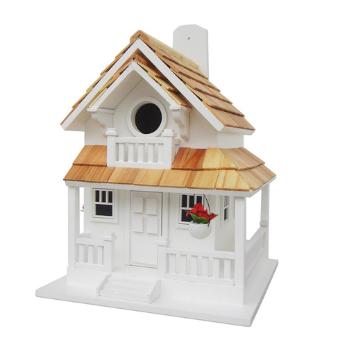 Backyard Cottage Birdhouse - White