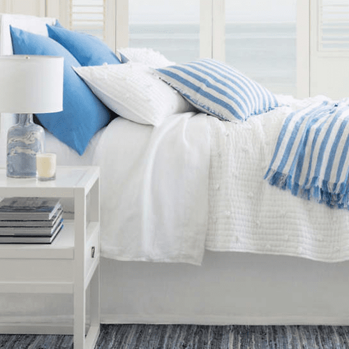 Belize Stripe Linen Throw