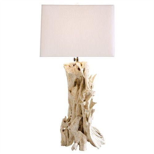 Bodega Distressed White Driftwood Lamp