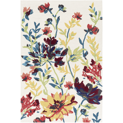 Botanical Yellow Hand Tufted Rug *Backorder