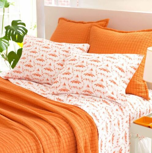 Boyfriend Orange Matelasse Coverlet