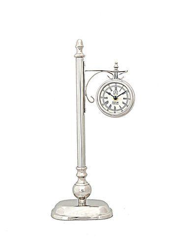 Brass/Aluminum Lamp Post Clock