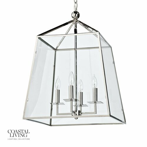 Cachet Lantern - Polished Nickel