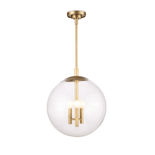 Cafe Pendant Natural Brass Extra Small in Two Sizes