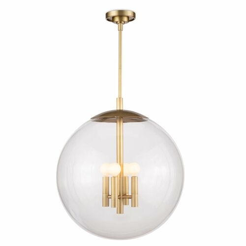 Cafe Pendant Natural Brass Large