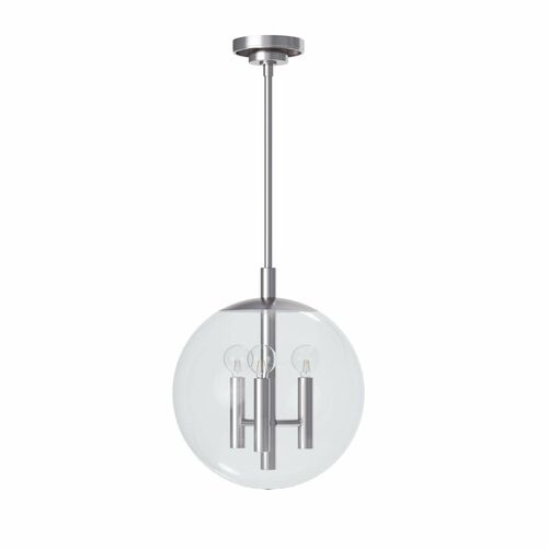 Cafe Polished Nickel Pendant in Three Sizes