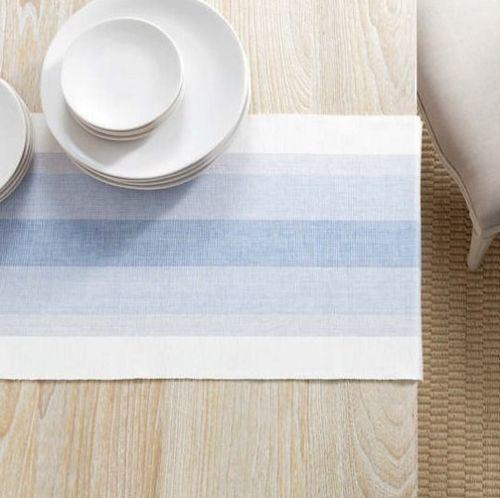Cafe Stripe Table Runner - Lavender With Napkin Option