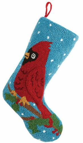 Cardinal Hook Christmas Stocking<font color =a8bb35> Sold out</font>
