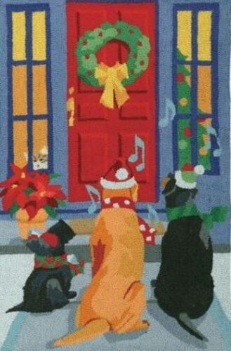 Caroling Dogs  Indoor Christmas Doormat