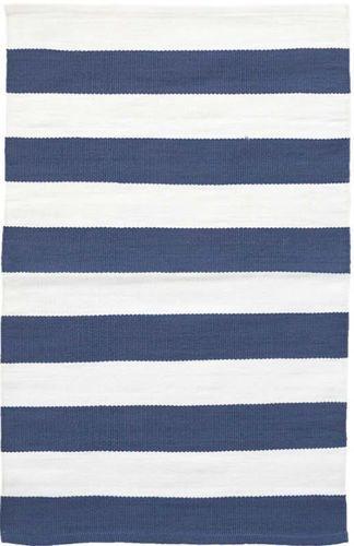 Catamaran Stripe Denim+White Indoor/Outdoor Rug