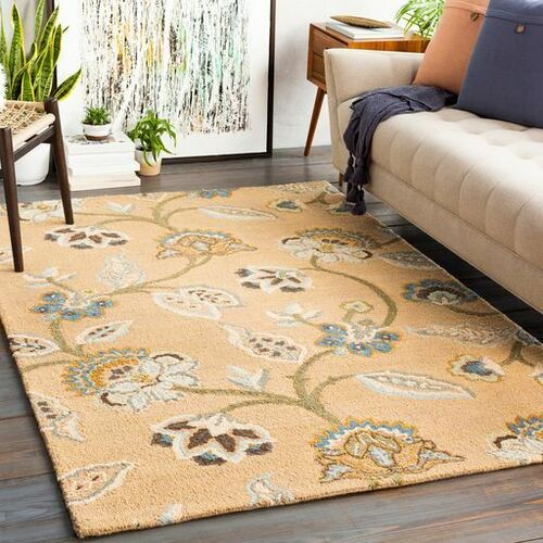 Chanceux Bright Blue Hand Tufted Rug