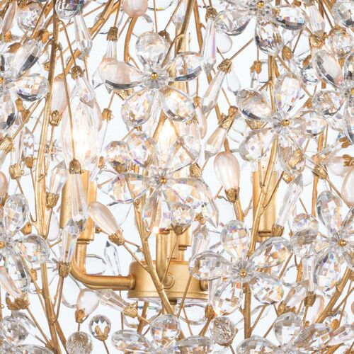 Cheshire Gold Leaf Chandelier Small