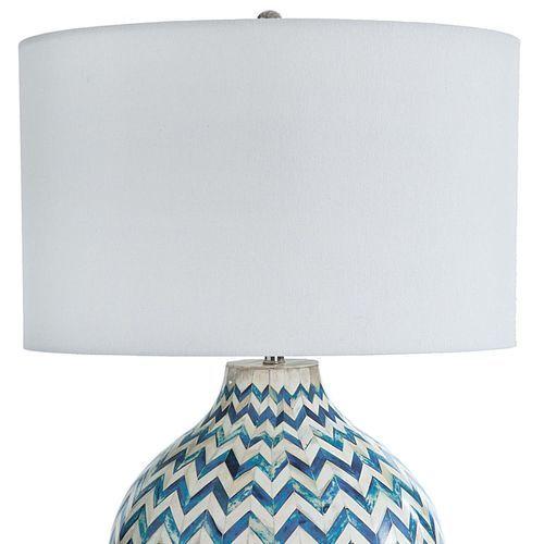 Chevron Bone Blue Table Lamp