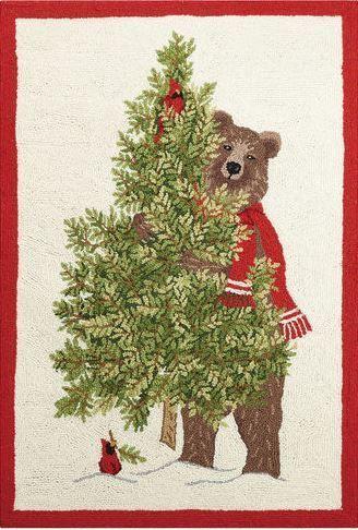 Christmas Bear  Indoor Christmas Doormat