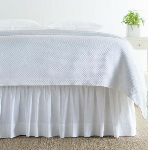 Classic Hemstitch White Bedskirt