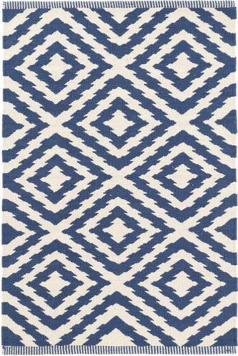 Clover Blue Cotton Woven Rug