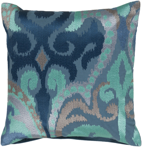 Cobalt and Aqua Ikat Pillow